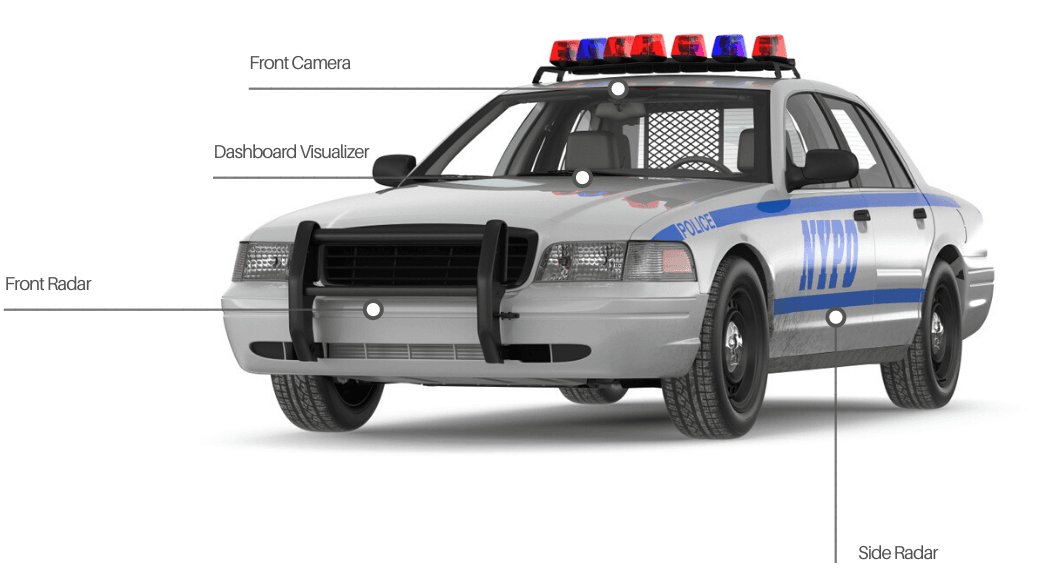 police car ready accident prevention